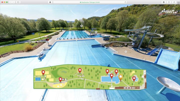 Gigapixel Panorama Virtueller Rundgang Freibad Tübingen
