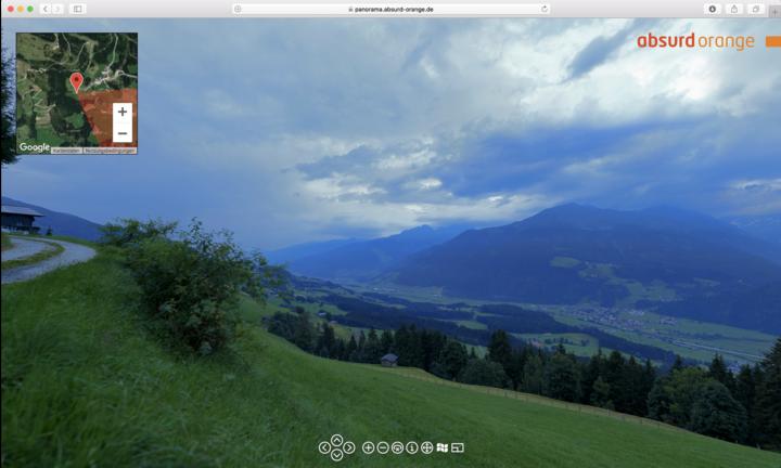 15 Gigapixel Panorama Pinzgau, Österreich
