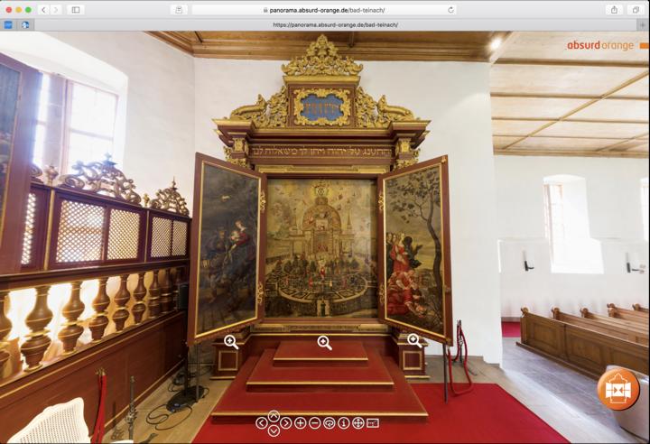 Virtueller Rundgang Öffenbares Triptychon in der Kirche Bad Teinach