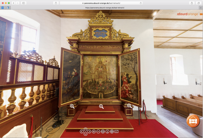 Öffenbares Triptychon: Kabbalistische Lehrtafel der Prinzessin Antonia von Württemberg in der Kirche Bad-Teinach