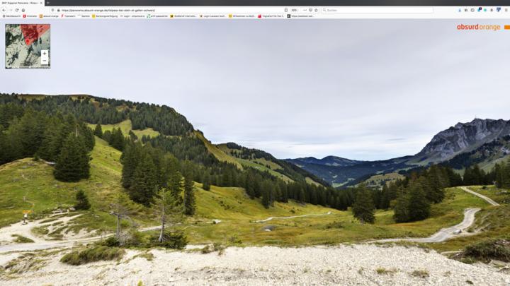 Gigapixel Panorama Risipass im Kanton St. Gallen, Schweiz