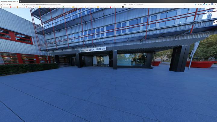 Gigapixel Panorama SWT Kundencenter außen