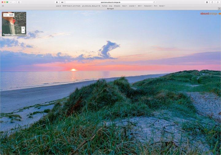 5,5 Gigapixel Panorama Bjerregard Strand in Dänemark