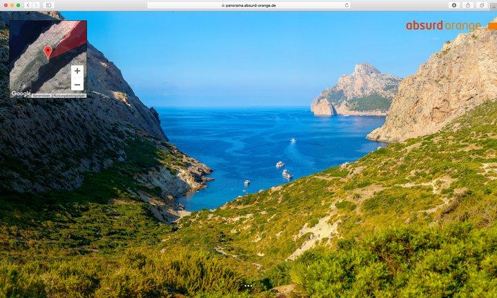 15 Gigapixel Panorama Bocquer Tal, Mallorca, Spanien