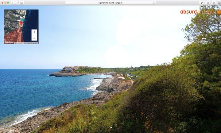 15 Gigapixel Panorama Cala Murada, Mallorca, Spanien