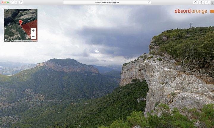 15 Gigapixel Panorama Fort Alaro, Mallorca, Spanien