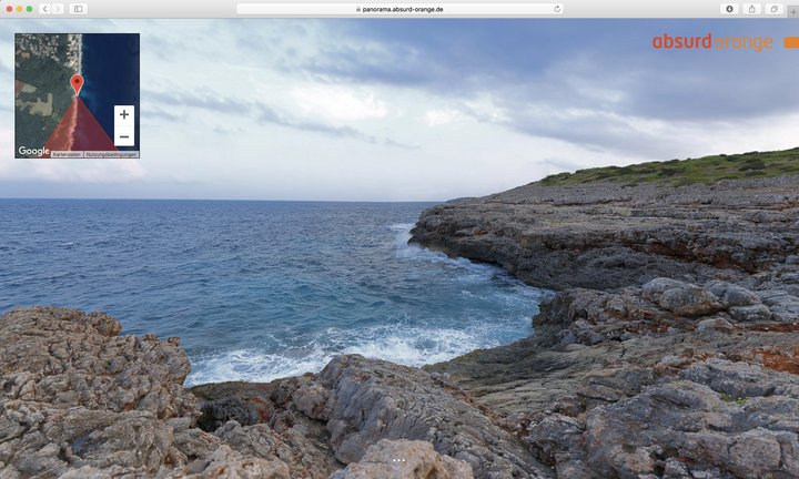 15 Gigapixel Panorama Felsenküste, Cala Murada, Mallorca, Spanien