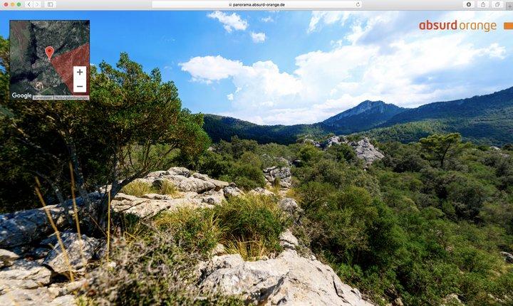 Gigapixel Panorama Felsenküste, Lluc, Mallorca, Spanien