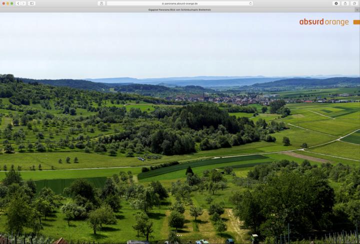 Gigapixel Panorama des vom Schönbuchspitz in Breitenholz