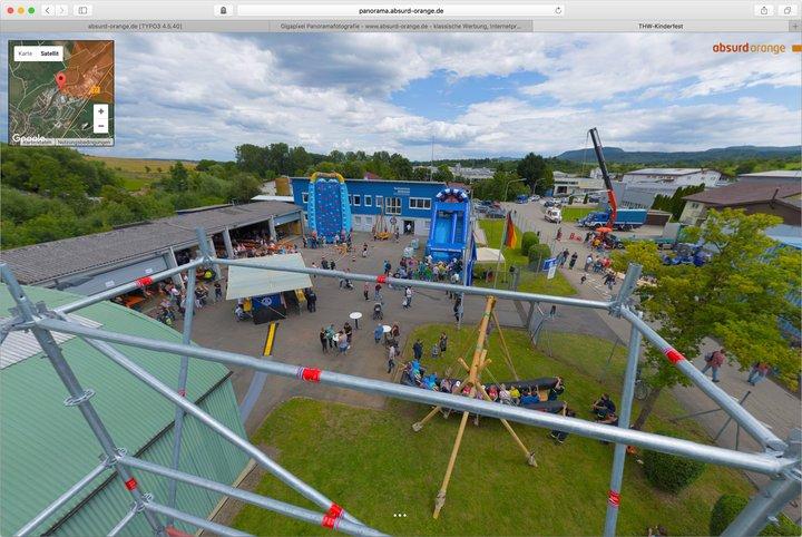 Gigapixel Panorama Technisches Hilfswerk THW Ofterdingen Kinderfest