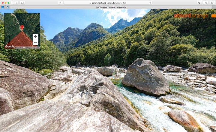 15,5 Gigapixel Panorama im Verzasca Tal in der Schweiz