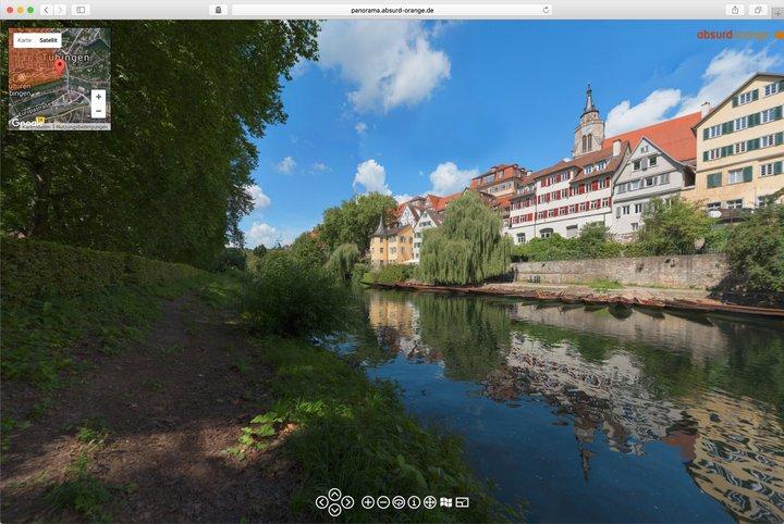 Gigapixel Panorama Tübingen Neckarfront
