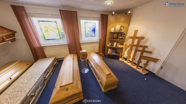 Virtueller Rundgang Bestattungsinstitut Rilling & Partner in Tübingen