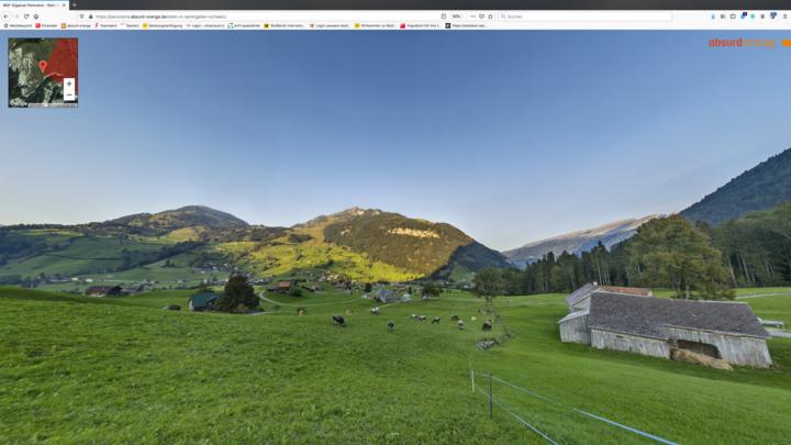 Gigapixel Panorama Stein in St. Gallen Schweiz